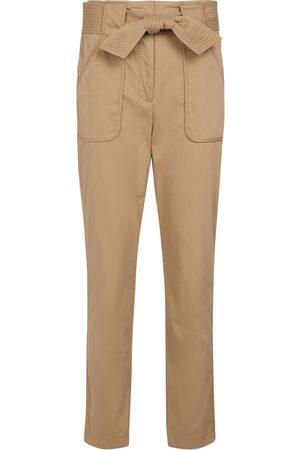 VERONICA BEARD Mahary belted high-rise slim pants