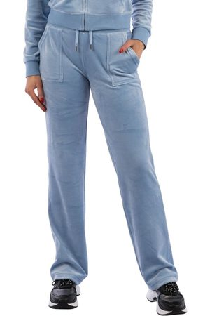 Juicy Couture Dames Joggingbroeken - Del Ray Classic Velour Pant Pocket Design