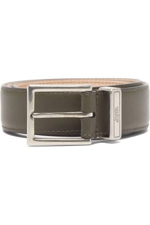 Alexander McQueen Heren Riemen - Identity Leather Belt - Mens - Khaki