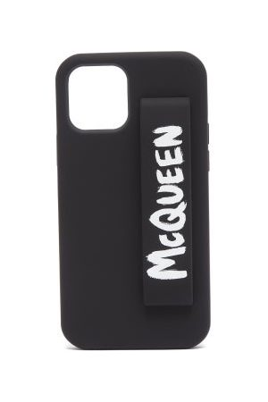 Alexander McQueen Logo-print Iphone® 12 Pro Phone Case - Mens - Black