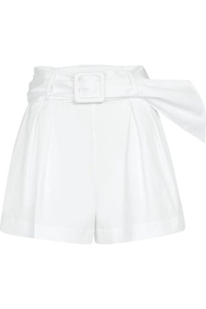 Oscar de la Renta Pleated stretch-cotton shorts