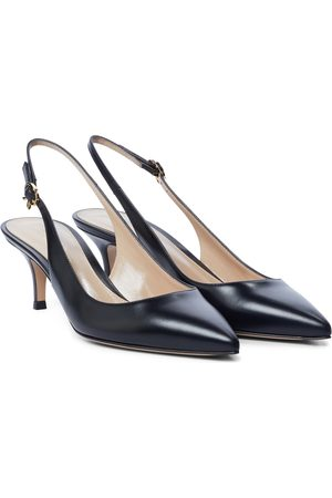 Gianvito Rossi Ribbon Sling 55 leather slingback pumps