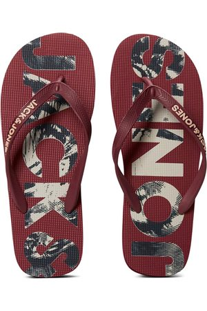 JACK & JONES Heren Slippers - Print logo teenslippers