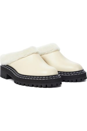 Proenza Schouler Shearling lined leather mules