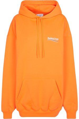 Balenciaga Logo cotton-blend hoodie