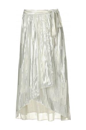 IRO Rok met lurex strepen Dori white