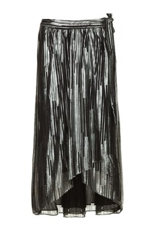 IRO Rok met lurex strepen Dori zwart