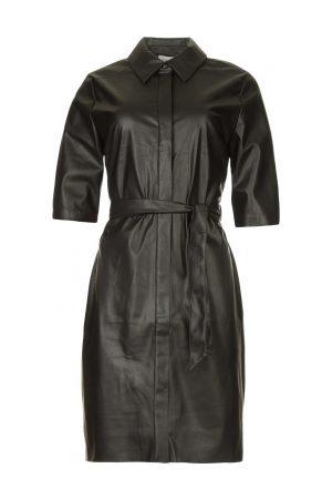 Dante 6 Faux leather jurk Baroon