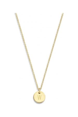 Just Franky 14kt gouden ketting Coin 43 cm geelgoud