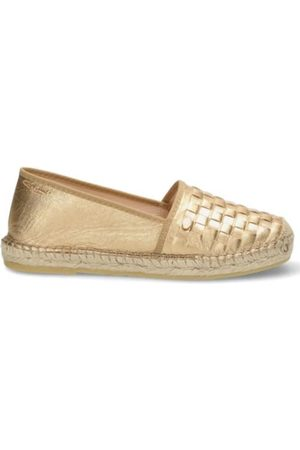 Fred de la Bretoniere Loafers 50th Anniversary Espadrille Loafer Shiny Goudkleurig