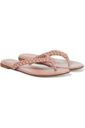 Gianvito Rossi Tropea leather thong sandals