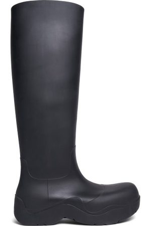 Bottega Veneta The Puddle Biodegradable-rubber Knee-high Boots - Womens - Black