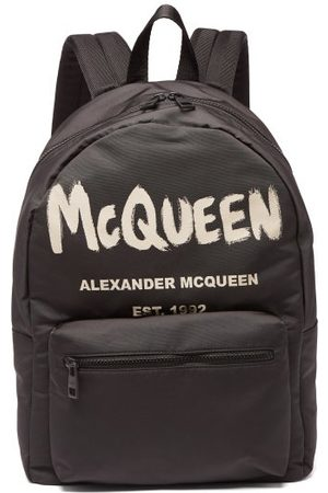 Alexander McQueen Metropolitan Logo-print Canvas Backpack - Mens - Black