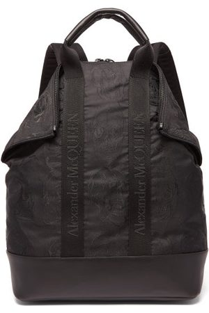 Alexander McQueen De Manta Skull-jacquard Canvas Backpack - Mens - Black