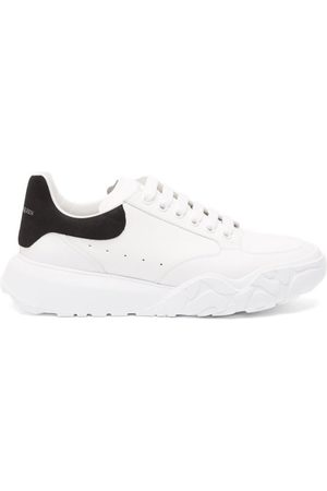 Alexander McQueen Court Raised-sole Leather Trainers - Mens - White Black