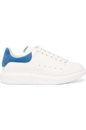 Alexander McQueen Raised-sole Leather Trainers - Mens - Blue White