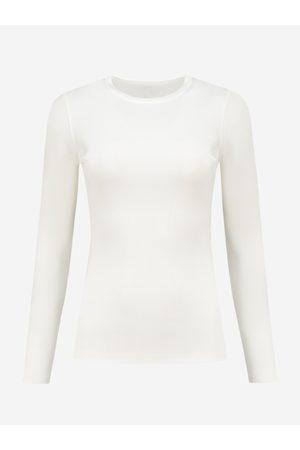 NIKKIE by Nikkie Plessen Aangesloten top met lange mouwen 32 / Off white