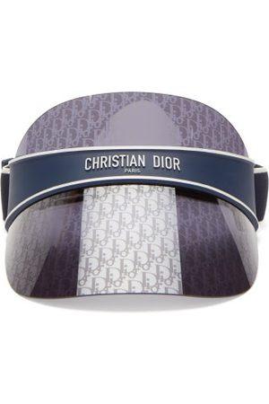 Dior Club Oblique Monogram-lens Visor - Womens - Blue