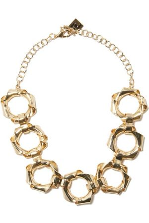 ROSANTICA Bamboo Metal Necklace - Womens - Gold