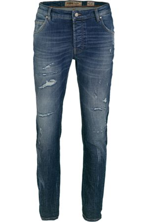 tigha Heren Tapered - Heren Jeans Billy the kid 9994 repaired (dark blue)