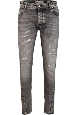 tigha Heren Tapered - Heren Jeans Billy the kid 9941 repaired grijs (light grey)