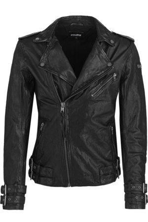 Tigha Heren Leren jas Baik (black)