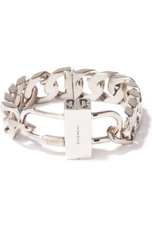 Givenchy G-chain And Padlock Bracelet - Womens - Silver