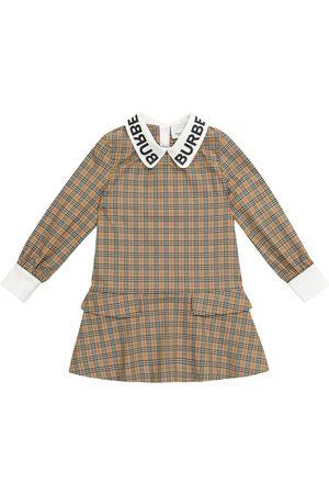 Burberry Checked stretch-cotton dress
