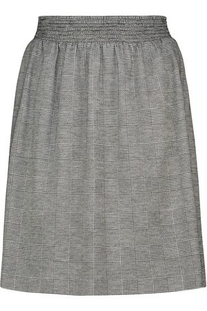 Max Mara Learco checked wool-blend miniskirt