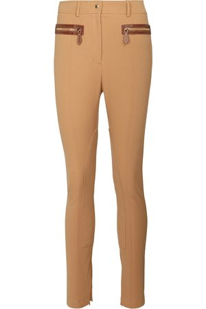Burberry High-rise stretch-cotton pants