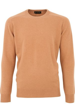 Alan Paine Pullover lamswol camel lamswol ronde ha
