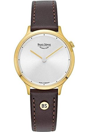 Soehnle Bruno Söhnle Dames analoog kwarts horloge met echt lederen armband 17-33213-251