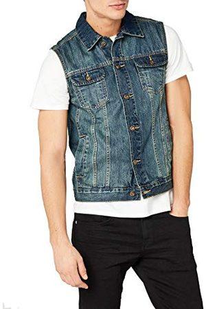 Urban classics Herenvest denim vest jeansvest, mannen jeansjas zonder mouwen in 3 trendy kleuren, maten S - 5XL