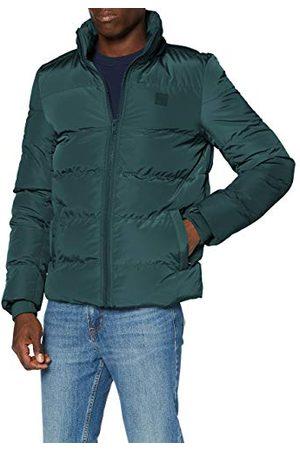 Urban classics Donsjack met capuchon voor heren, gewatteerde jas met afneembare capuchon in vele kleuren, maten S - 5XL