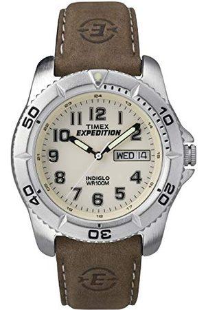 Timex Herenhorloge analoog leer T46681D7