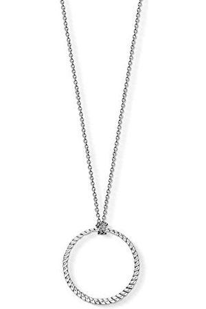 Thomas Sabo Bedelketting voor dames en heren, cirkel, grote Charm Club 925 sterling , X0251-637-21-L90