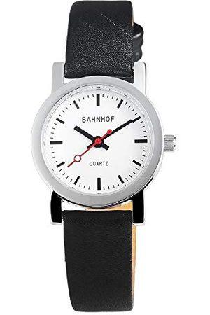 Bahnhof Dames analoog kwarts horloge met lederen armband 10072200001