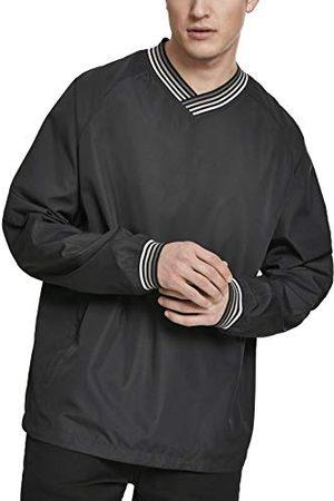 Urban classics Windbreaker overgangsjas voor heren, warm up pullover in de stijl van een regenjas om over te trekken.