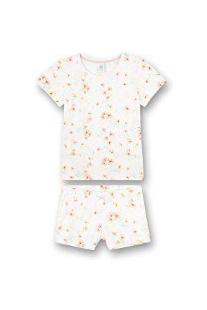 Sanetta Meisjespyjama short allover beige pyjamaset