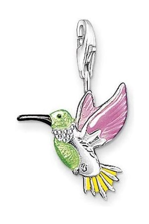 Thomas Sabo Bedelhanger voor dames, kleurrijke kolibri Charm Club 925 sterling zilver 0655-007