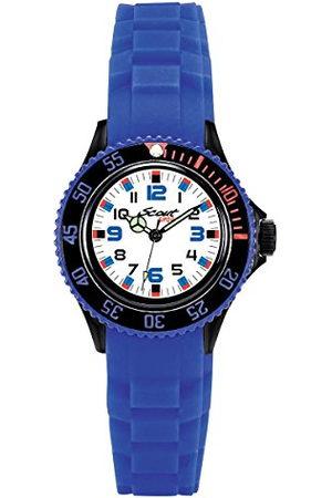 Scout 280303019 Analoog kwartshorloge voor jongens, met siliconen armband