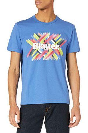 Blauer Blauwe T-shirt, korte mouwen, voor heren