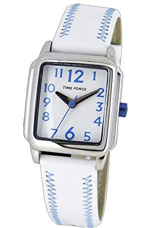 TIME FORCE Jongens analoog quartz horloge met lederen band TF4115B03