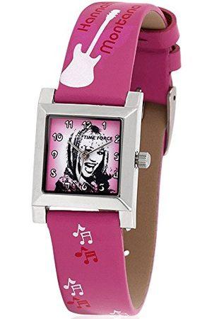 TIME FORCE Horloge voor kinderen, analoog, kwarts, met lederen band HM1004