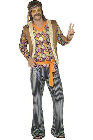 Smiffys Heren 60 Sänger kostuum, bovendeel, vest, broek, riem en hoofdband, maat: XL, 44680