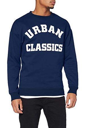 Urban classics Heren College Print Crew sweatshirts, donkerblauw, 5XL