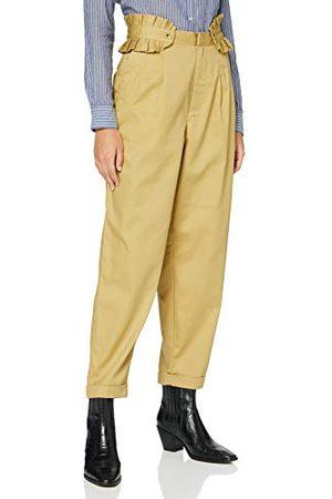 Scotch&Soda Dames Clean Twill Chino met afneembare geplooide riem casual broek