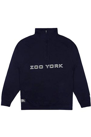 ZOO YORK Heren Bank Overzicht Rits Crew Pullover Trui