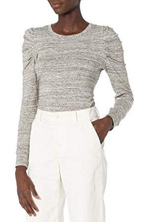 Daily Ritual Amazon Brand - Dagelijks Ritueel Vrouwen Supersoft Terry Plissé-Sleeve Sweatshirt,Heather Spacedye,M-L