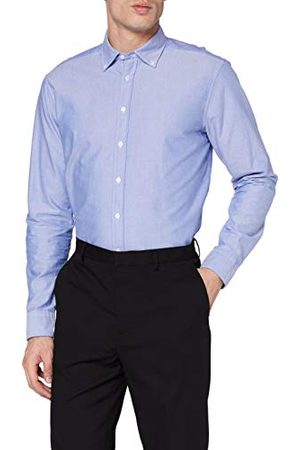 Seidensticker Modern herenhemd met lange mouwen en button-down kraag Soft Uni Smart Business overhemd